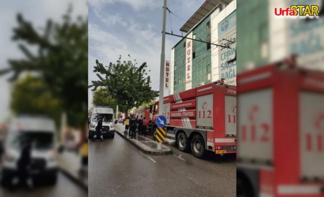 Urfa'da otelde yangın çıktı