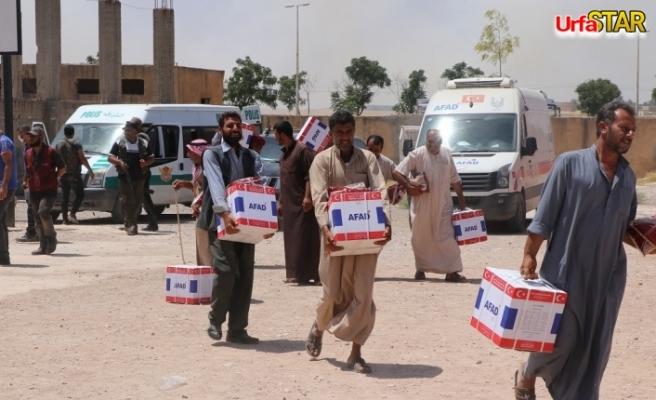 AFAD'ın yardımları Barış Pınarı Bölgesi'ne ulaştı