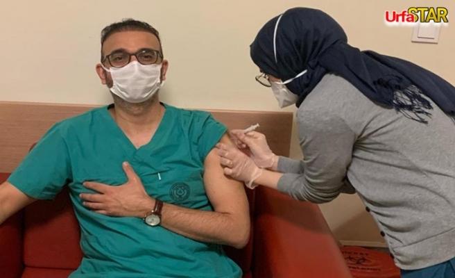 Urfa'da aşı uygulaması başladı...