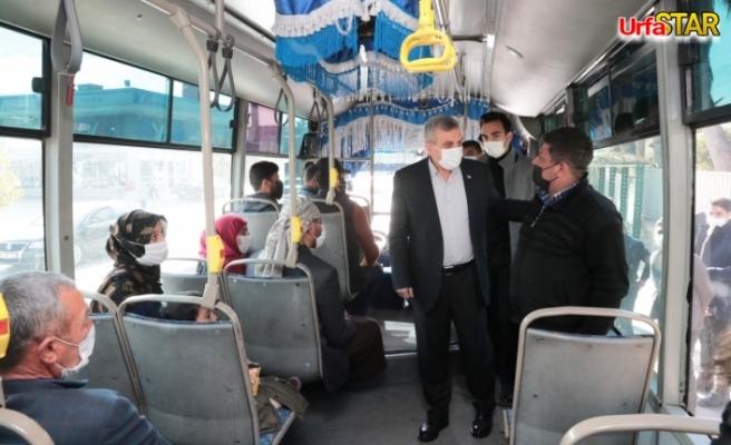 Beyazgül, minibüsteki vatandaşlarla buluştu