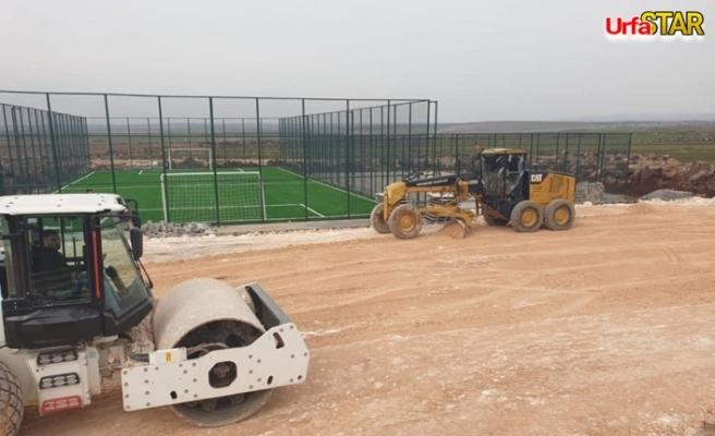 Viranşehir kırsalında asfalt çalışmaları sürüyor