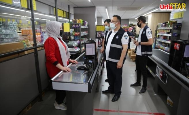Haliliye'de büyük marketler bilgilendirildi
