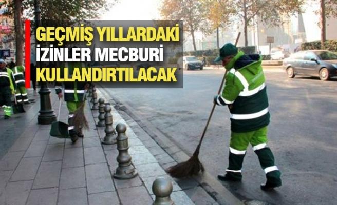 Belediye İşçilerine Zorunlu İzin
