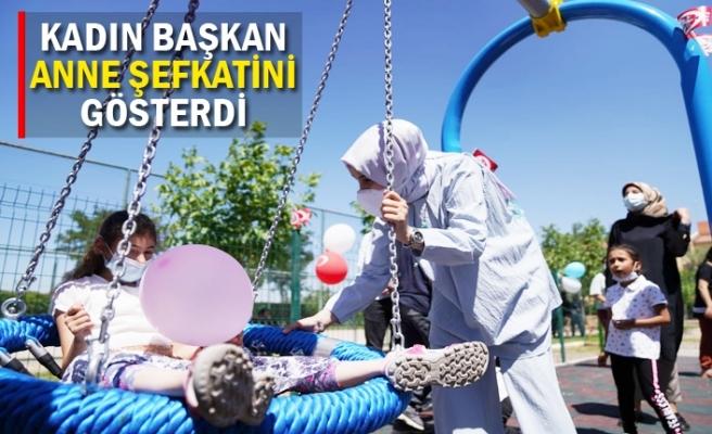 Çocuk oyun parkının açılışını yaptılar