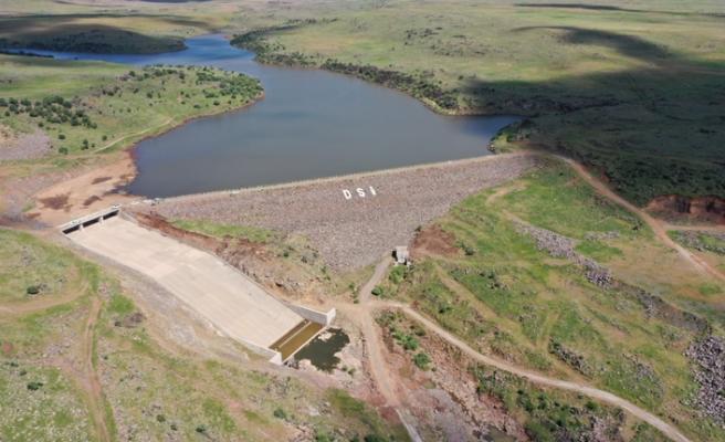 Siverek'te ki barajda çalışmalar sürüyor