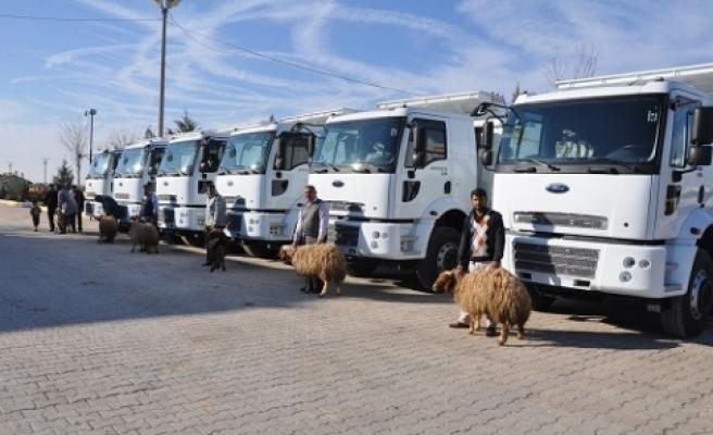 Akçakale Belediyesine  6 yeni araç alındı