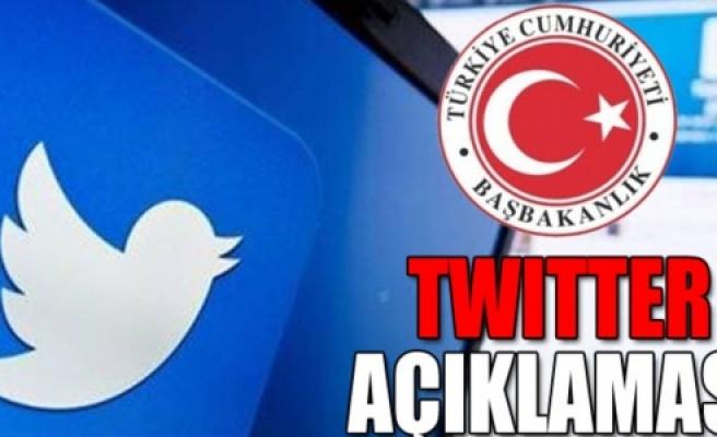 Başbakanlık'tan 'Twitter' açıklaması