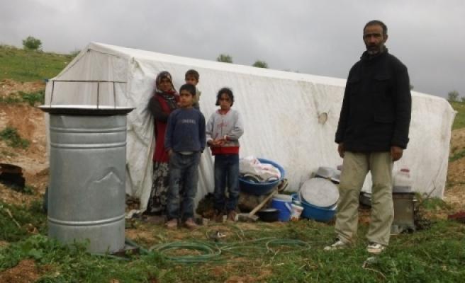 Çadırda yaşam mücadelesi