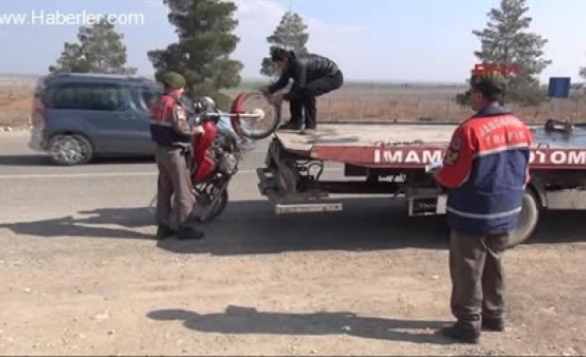 Çaldığı motorla yakalandı