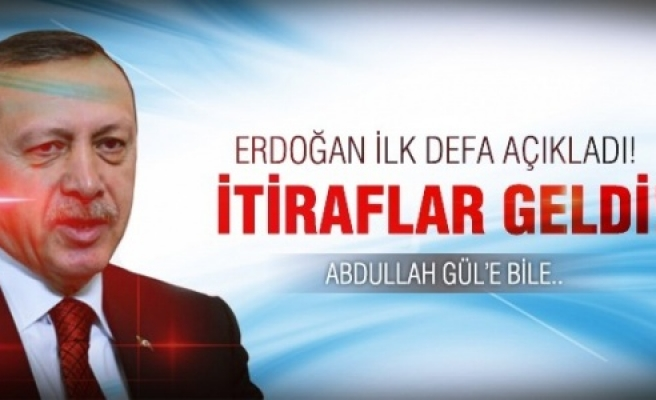Erdoğan itiraf etti!