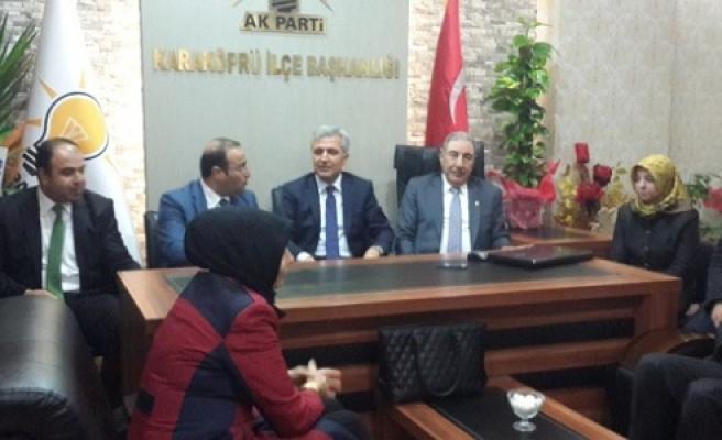 Gök ve Eyyüpoğlu, Aksoy'u ziyaret etti