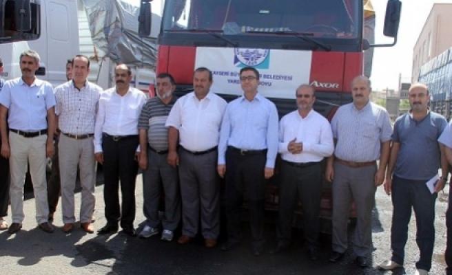 O yardımlar Urfa'ya ulaştı