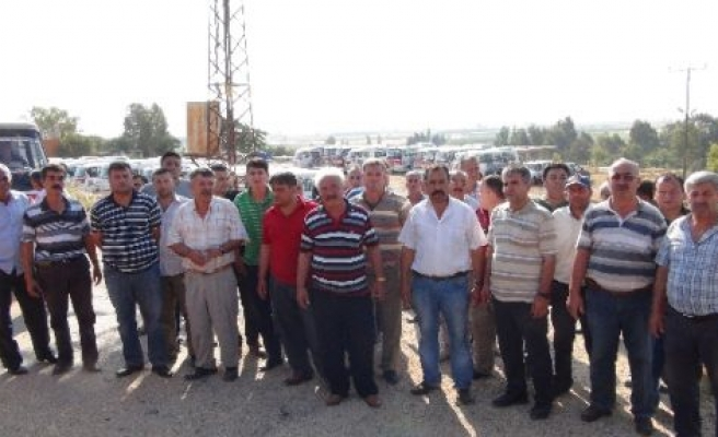 Silifke'de Minibis Şoförlerinin Protesto Eylemi