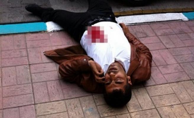 Sokak ortasında vuruldu!
