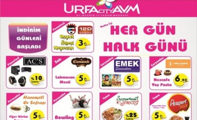 Urfa City AVM'de halk günleri başladı