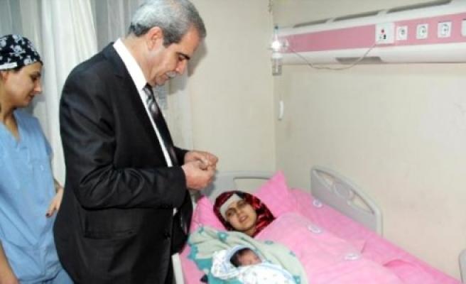 Urfa'da yılın ilk bebeği yetim doğdu