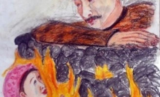 Yüreğiyle Somayı çizdi
