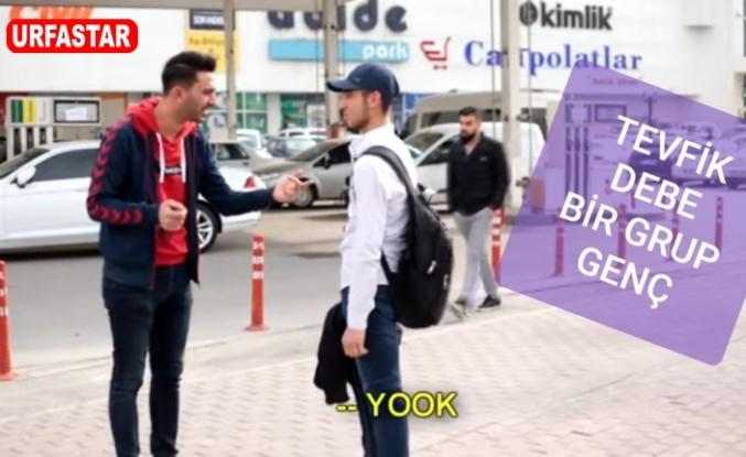 Urfa sokaklarında milleti trollemeye çalıştı