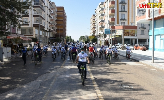 Bütün bisikletçiler Hilvan'da buluştu