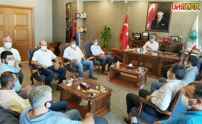 Urfa'da ki medikalciler Başkan Peltek ile görüştü