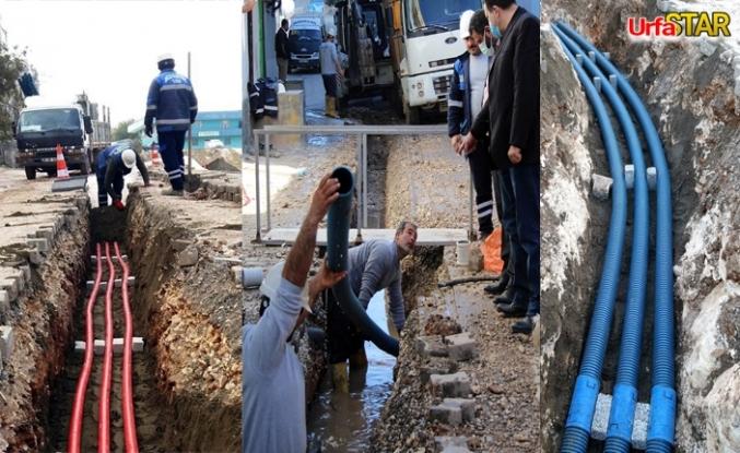 Eyyübiye'de elektrik hatları yeraltına çekiliyor
