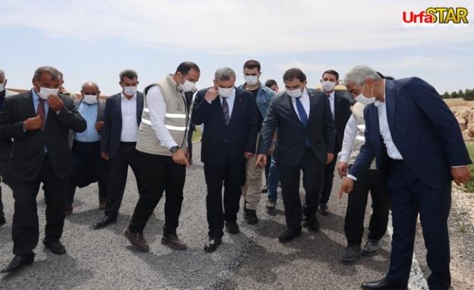 Başkanlar o bölgede incelemelerde bulundular