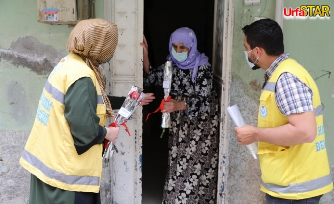 Haliliye'de annelere sürpriz yapıldı