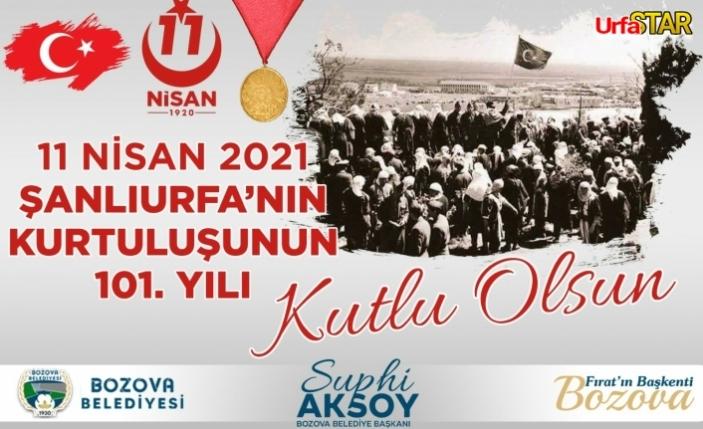 Aksoy'dan 11 Nisan kutlaması