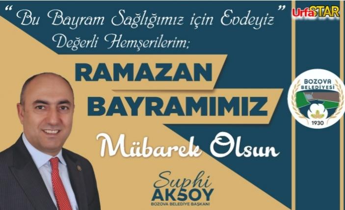 Aksoy'dan bayram mesajı