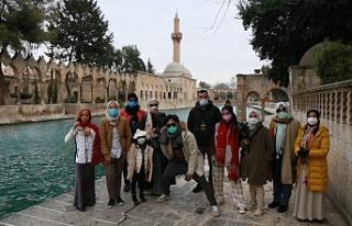 Endonezyalı turistler Urfa'da...