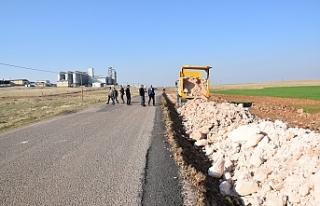 Viranşehir OSB yolunda çalışmalar sürüyor