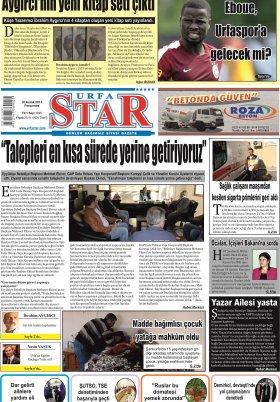 URFASTAR COM -Şanlıurfa Haberleri - 10.12.2015 Manşeti