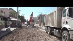 Akçakale'de prestij caddesi çalışmaları başladı