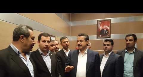 Bakan Çelik'i coşkuyla Ankara'ya yolculadılar