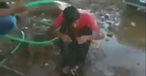 Urfa'da fıstık çalan çocuğa işkence